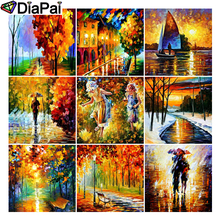 DIAPAI Diamond Painting 5D DIY Full Square/Round Drill Oil painting landscape 3D Embroidery Cross Stitch Decor Gift