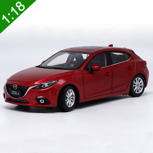 New 1 18 Mazda 3 Axela Alloy Car Model Original Box Metal Cast Limited Red