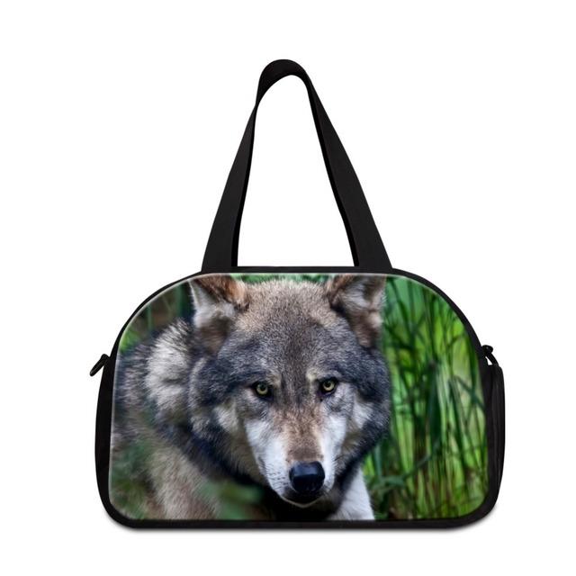Lobo sacolas de viagem para os homens bolsas de viagem leve Menino médio saco com bolso sapato gymi fresco ombro saco desportivo para venda