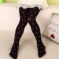 2 pieces Spring/autumn Baby Children Girls Tights Kids Dots and print Velvet Slim Dance Full Foot Stockings Tights Cute Clothing