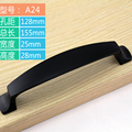 matte black  cupboard door vintage pulls modern simple furniture door handles knobs cabinet drawer dresser handle