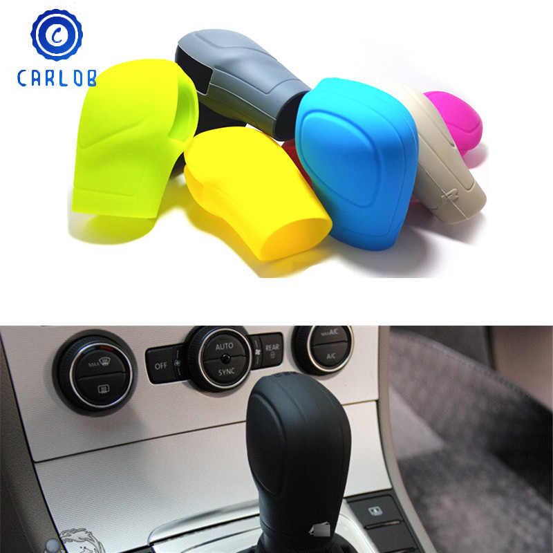 Silicona Negro Autom/óvil DSG Engranaje Perilla del Cambio del Protector del Coche Freno de Mano Cubierta de la Caja de la manija para Ford Focus Zerama