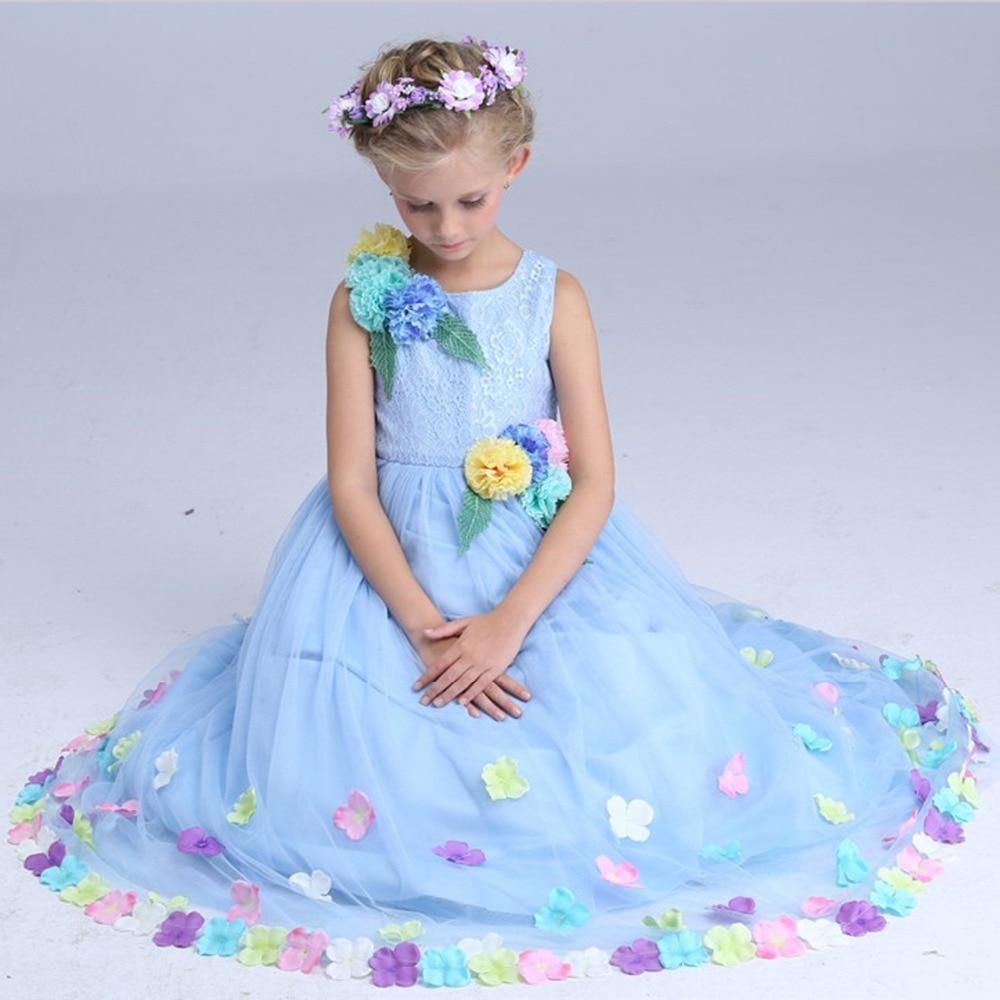 High quality Cinderella Flower Fairy costume girls summer maxi dress ...