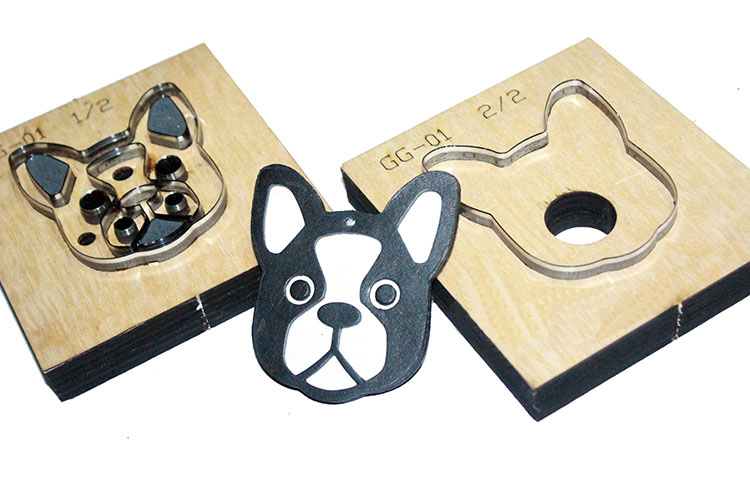 Cheap Sale Japan Steel Blade 2pcs/set 65x73mm Wooden Die French Bulldog Dog Pendant Leather Craft Punch Cut Knife Mould Sewing Accessories Good Reputation Over The World Leathercraft Punching