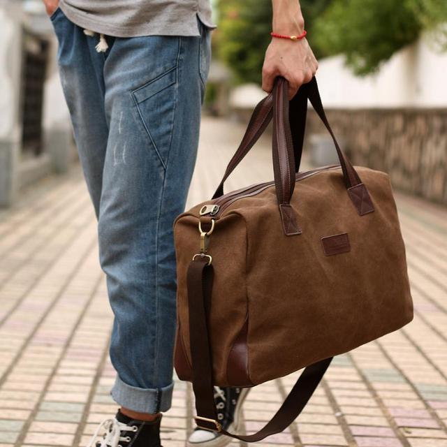 New 2015 Fashion Men Handbag Canvas Large Capacity Men