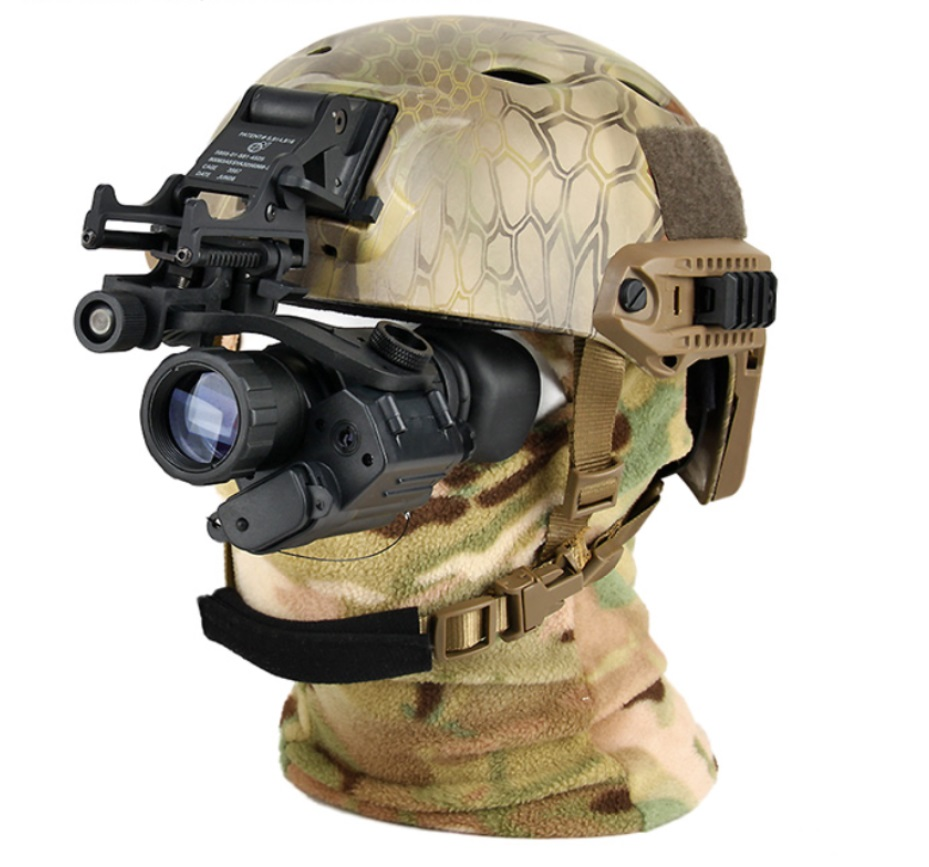 Tacitcal digital PVS 14 night vision sight rifle scope mount on the helmet for hunting camping