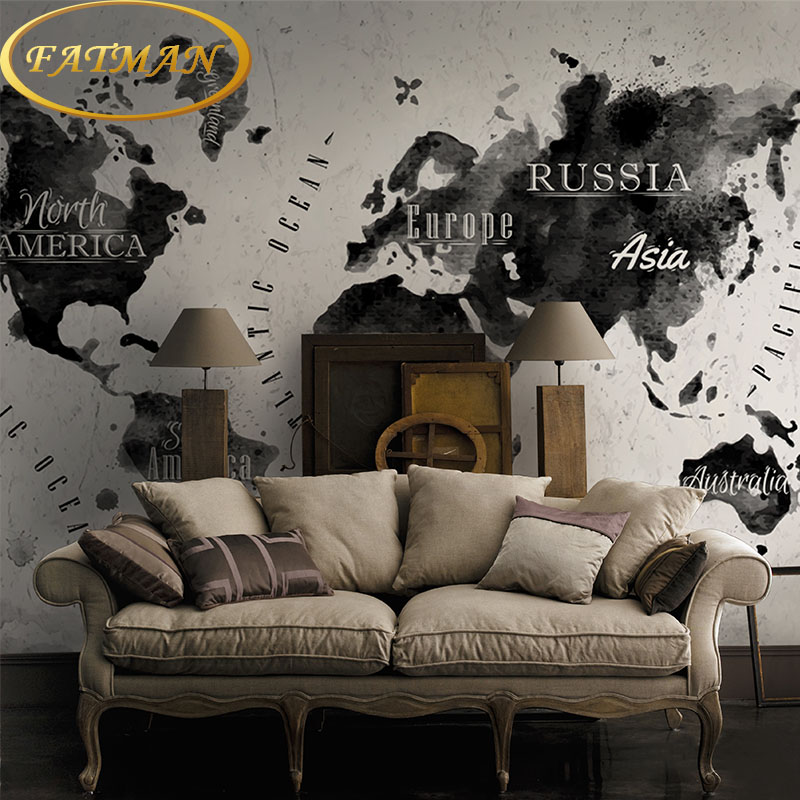 Custom photo wallpaper personalized world map wallpaper ink wall painting office living sofa background lobby 3D wallpaper shinehome two styles custom 3d photo wallpaper world map painting wallpapers for 3 d living room sofa tv background wall paper