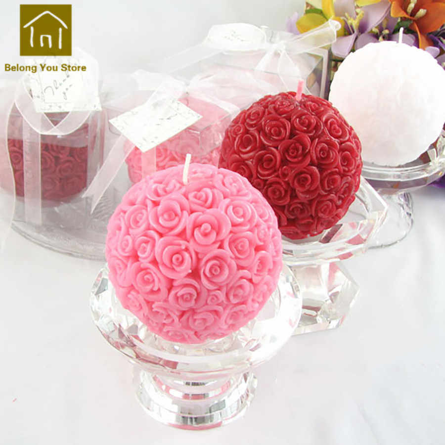 Creative Flower Candles Wedding Decoration Bougies Et Chandelles Gifts For Valentines Candle Home Bougie Mariage Making JKK160