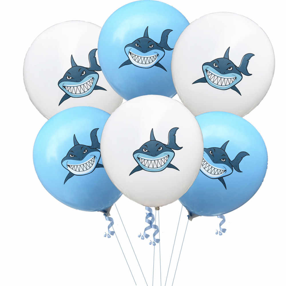 ... 10pcs 12inch Angry Shark Latax Ballons Party Decoration Birthday Baby  Shower Games Boy First Bithday Party ...