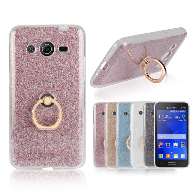 premium selection 7c52c 5339b US $3.19 |Aliexpress.com : Buy Flash powder TPU Soft Silicone With Ring  Phone Case Back Cover For Samsung Galaxy Core 2 II Core2 Case G355 G355H  G3559 ...