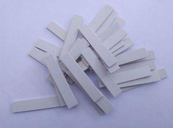 100 sztuk/paczka pralni zarządzania pasywne UHF RFID tagi silikonowe wsparcie do szycia prania prasowania pasywne tagi odzież