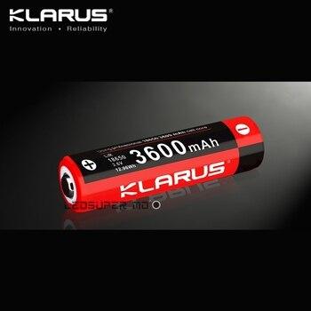 Batterie Rechargeable originale de la cellule KLARUS 3600 mAh Li-ion 18650 pour l'éclairage portatif