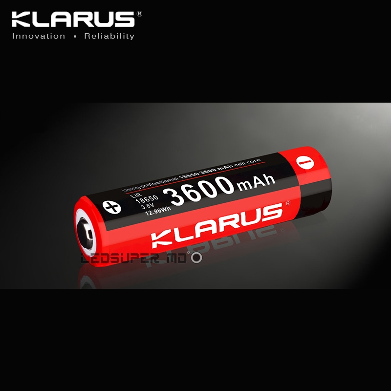 Original KLARUS 3600mAh Li-ion Cell Rechargeable 18650 Battery for Portable Lighting 18650 rechargeable 3600mah li ion batteries yellow pair