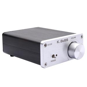 Image 2 - Kguss GU100 ミニハイファイクラス d オーディオデジタルパワーアンプ tpa3116d2 TPA3116 高度な 2*100 ワットミニホームアルミエンクロージャアンプ