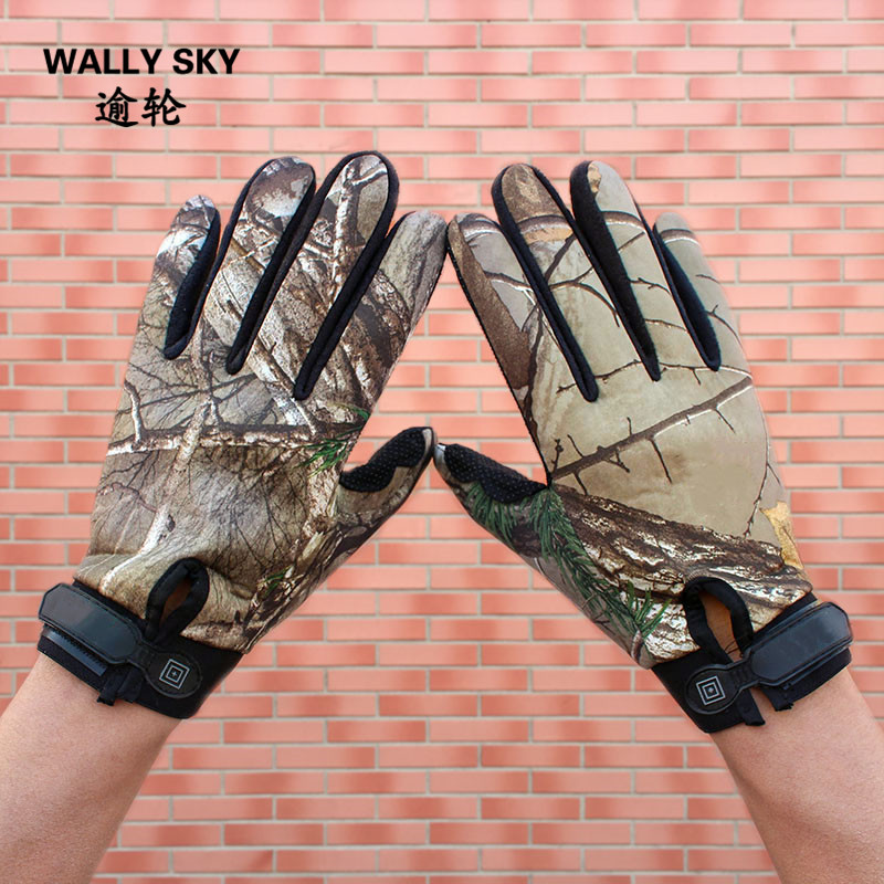 Men's Camouflage Hunting Gloves Outdoor Fishing Cycling Motorcycle Gloves Jungle Forest Hiking Gloves Tactical Climbing Gloves