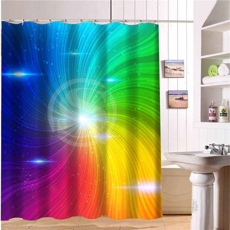 FY523J5 New Custom Colorful Rainbow Background Abric Modern Shower Curtain Bathroom Waterproof YY 4 In Curtains From Home Garden On Aliexpress