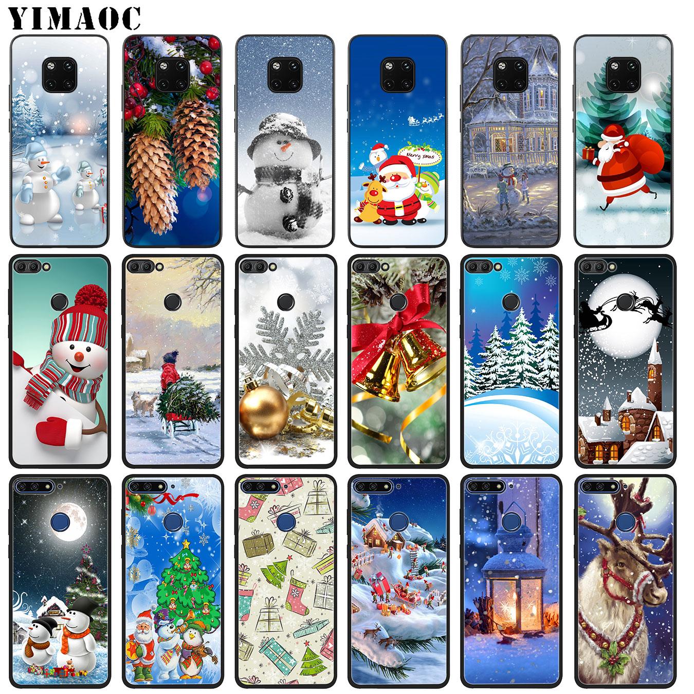 YIMAOC Рождество Снеговик Снег Санта Клаус Мягкие силиконовые чехол для телефона для huawei Nova 3 3i 2i Примечание коврики 20 10 Pro Lite