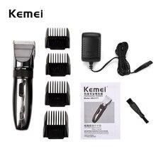 Kemei Hair Trimmer Professional Hair Clipper Rechargeable Haircut Clipper Razor Men Machine Clipper Titanium Ceramic Blade