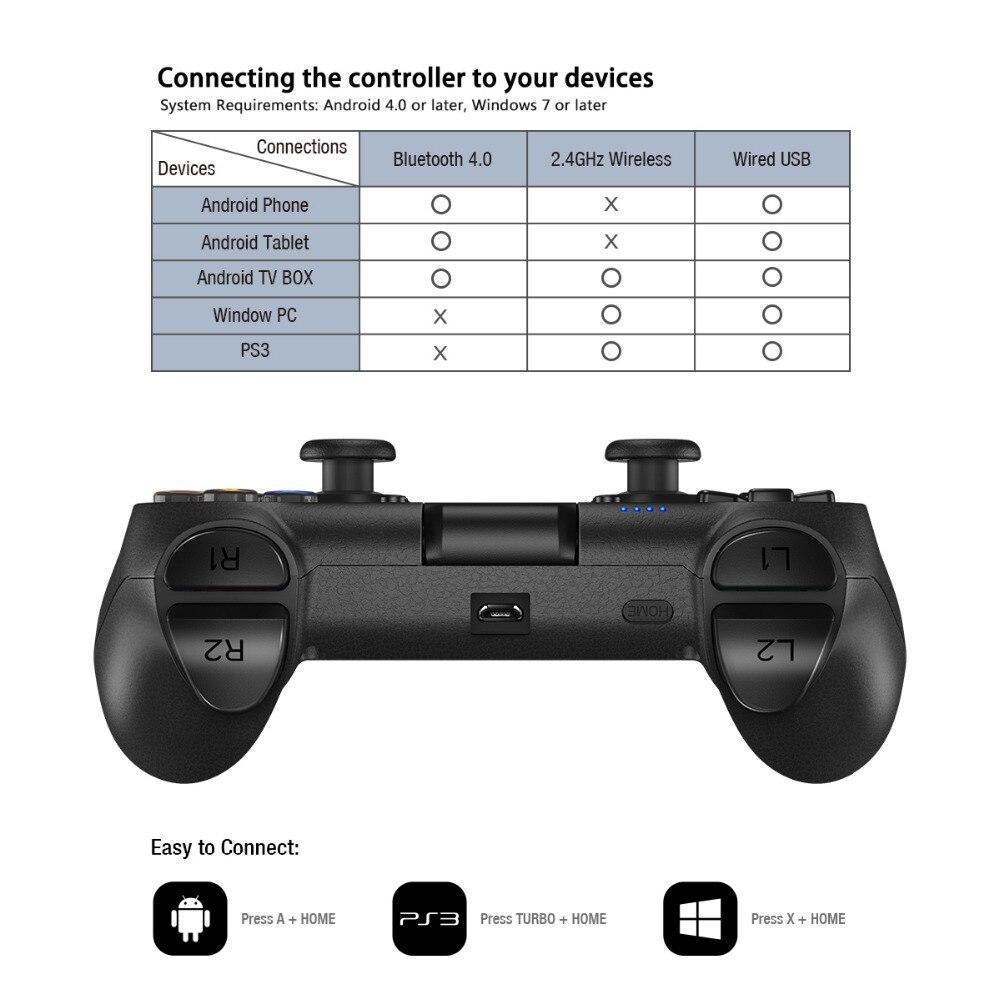GameSir T1s Bluetooth Sans Fil Contrôleur de Jeu Gamepad pour Android/Windows PC/VR/TV Box/PS3 Meilleur pour cadeau de noël - 6