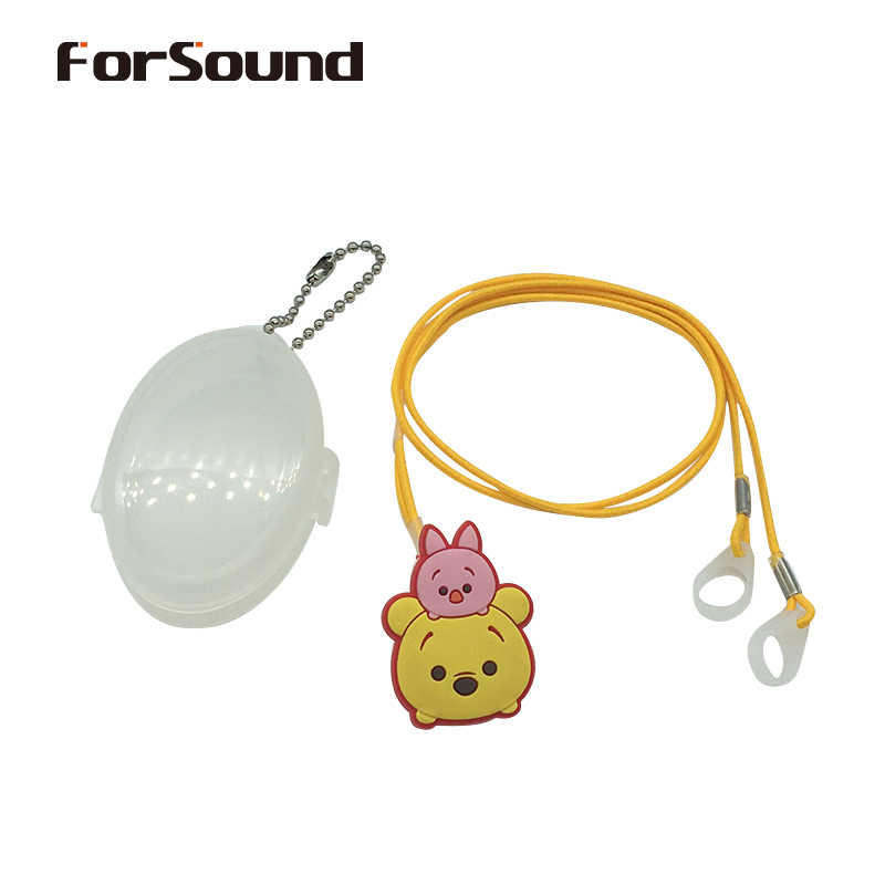 Kids BTE Hearing Aid Clip Safety Line Otoclip for Preventing Falling and Loss Binaural