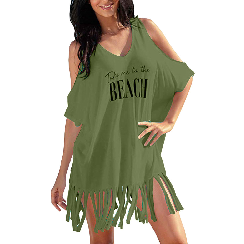 Ishowtienda Women Fahion Sexy Cover Up Skirt Swimsuit Women Bikini Cover Up Swimwear Summer Beach Wear Off Shoulder Blouse Dress Easy And Simple To Handle Swimming Sports & Entertainment