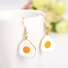 Punk Fun Acrylic Fried Egg Ear Nails Fashionable Personality Strange Exaggerated for the women Earrings Jewelry personality exaggerated fashionable with diamond crystal earrings