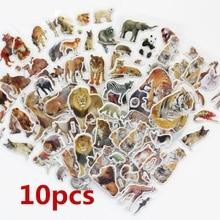 10 Sheets/set  Wildlife Wild Animals Scrapbooking Bubble Puffy Stickers Tigers Lions stickers Kawaii Emoji Reward Kids Toys
