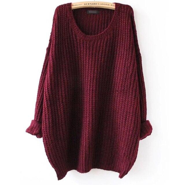 Lange Oversized Trui.Oversized Trui Herfst Winter Truien Vrouwen Pull Femme Knitwear