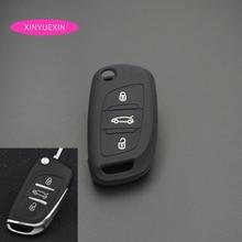 Xinyuexin غطاء مفتاح سيارة سيليكون فوب الحال بالنسبة لسيتروين C2 C3 C4 كوبيه VTR بيرلينجو C6 C8 الوجه البعيد مفتاح السيارة سيارة التصميم
