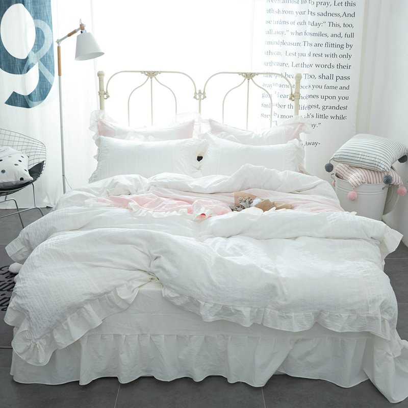 Whitecotton Ruffle Comforter Set
