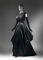 Late 1940s Fashion American Culture Sexy Back Black Silk