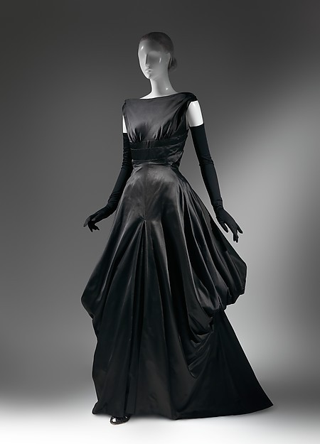 Late <font><b>1940s</b></font> Fashion American Culture Sexy Back Black Silk image