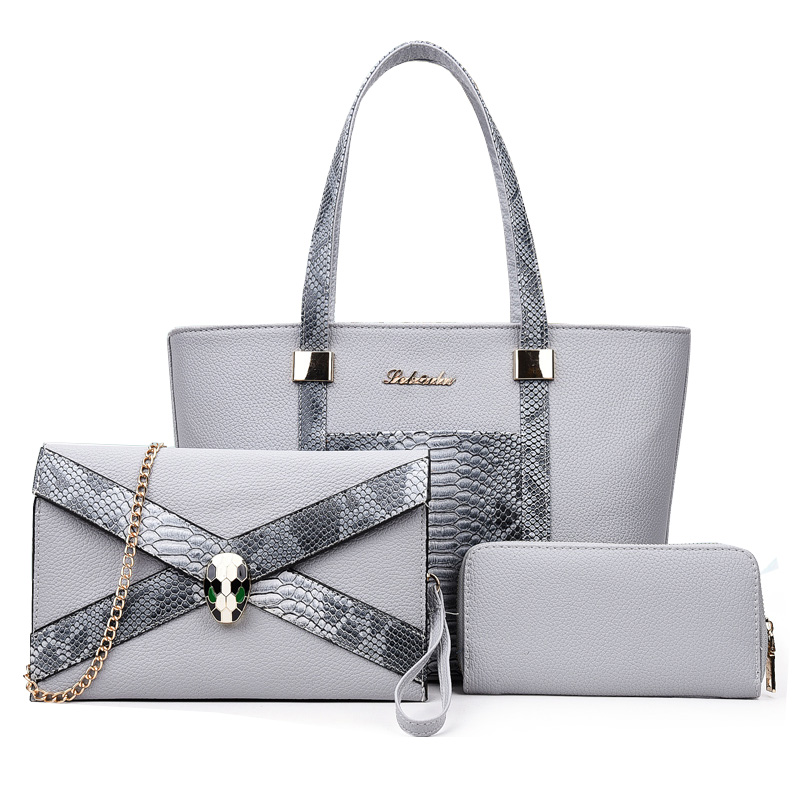 Luxury Handbags Women Bags Designer PU Leather Composite Bag Set Women's Serpentine Shoulder Tote Bag Sac a Main Femme de Marque kabelky brand big tote shoulder bags luxury handbags women bags designer pu leather top handle bags sac a main femme de marque