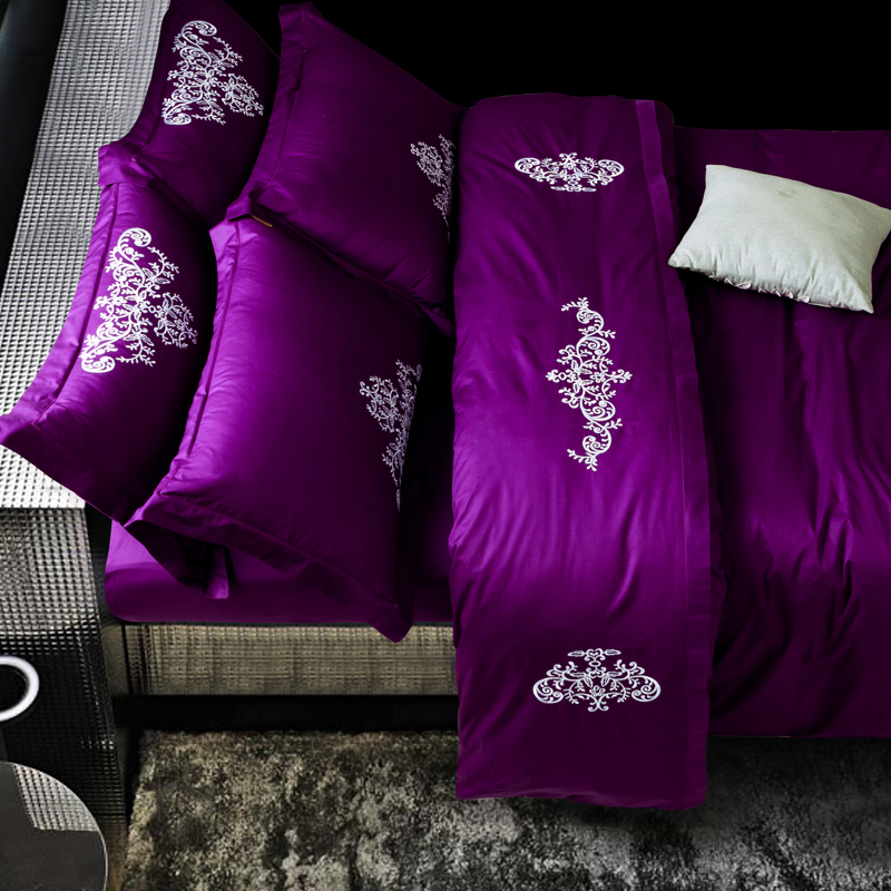 Fashion Quality Bedding Set Queen King Size Embroidery white Duvet Cover Bedsheet Pillowcase 4pcsFashion Quality Bedding Set Queen King Size Embroidery white Duvet Cover Bedsheet Pillowcase 4pcs