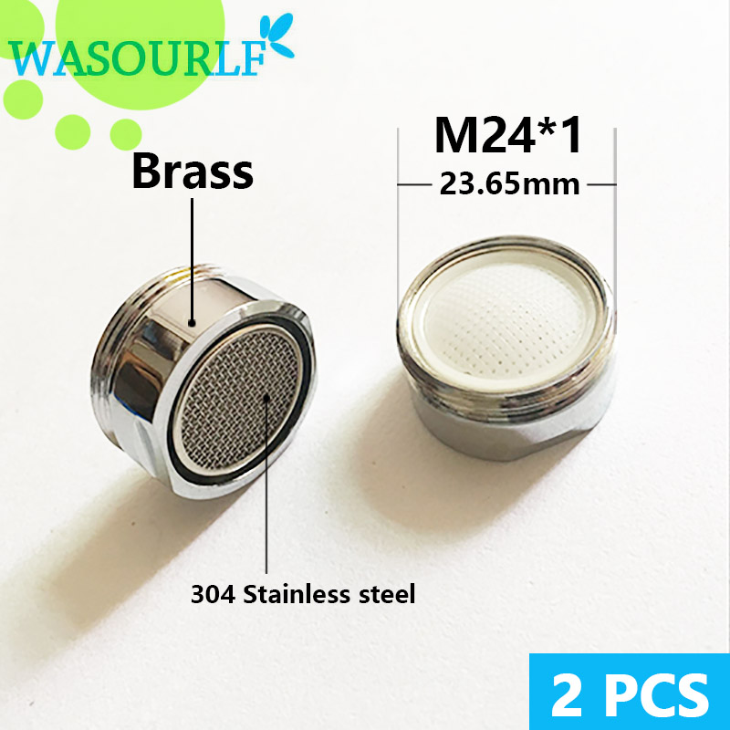 WASOURLF 2 PCS Water Saving Faucet Aerator 24mm Male Thread External Tap Spout Bubble Accessories Bathroon Basin Kitchen