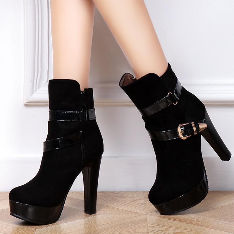 Aliexpress.com : Buy Women Ankle Boots High Heels 2015 Fashion ...