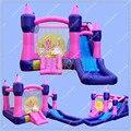 5 m Uso Familiar casa de Brinco Inflables, Inflable Castillo de La Princesa para el Patio Trasero, Mini Castillo Inflable para Los Niños con Ventilador libre
