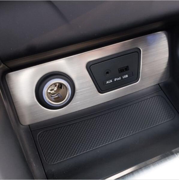 voiture intrieur en acier inoxydable allume cigare couverture superposition pour hyundai ix35 auto accessoires