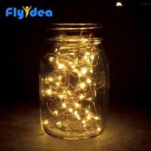 Рождественская гирлянда, светодиодный, сделай сам, медная проволока, Новогодняя гирлянда, для праздника, свадьбы, вечеринки, декоративные огни, меняющие цвет