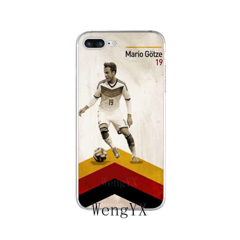 Wengyx футболист Марио Гётце № 10 плакат мягкий чехол для телефона для Huawei Honor 4C 5A 5X 5C 6 X Play 6X 6A 6C pro 7X8 9 Lite V8 V10