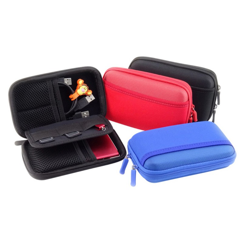 Portable Electronic Product Storage Bags Anti-Shock Digital Accessories Hard Drive Organizer Storage Carrying Case Bag Pouch