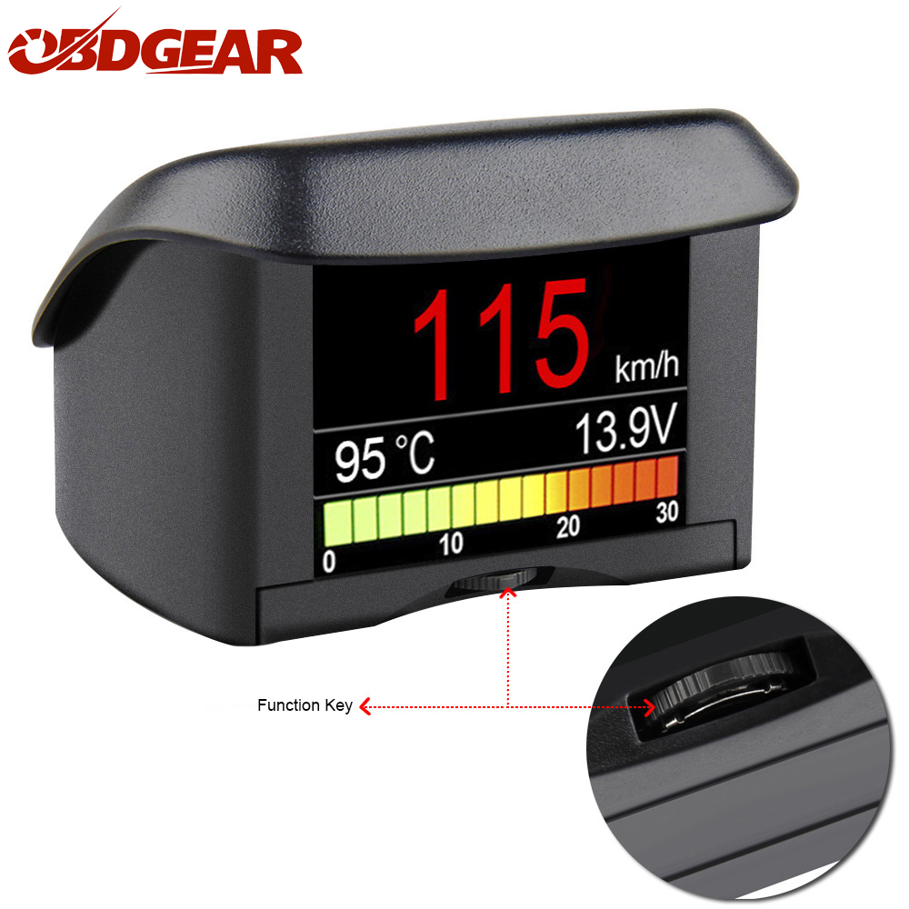 Inteligente OBDII automóvil ordenador de a bordo A202 Digital Car OBD conducción ordenador velocímetro temperatura del líquido de refrigeración