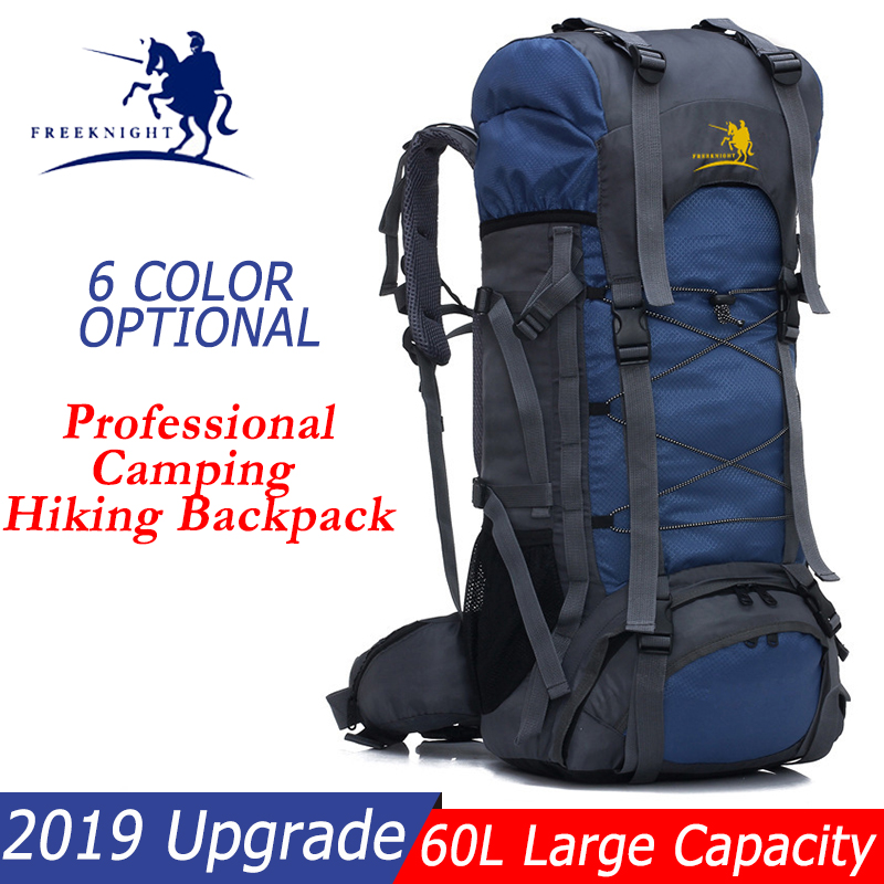 Hiking Bag 60L Waterproof Resistant Camping Backpack 60L Mountaineering Camping Hiking Bag Rucksack Women Men Traveling Bag-in Climbing Bags from Sports & Entertainment    1