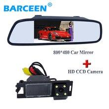 "CCD ночного видения заднего камера заднего вида принести линии парковки 4 LED + 4.3 ""зеркало автомобиля для Hyundai IX35 2010 /2012/Tucson 2011"