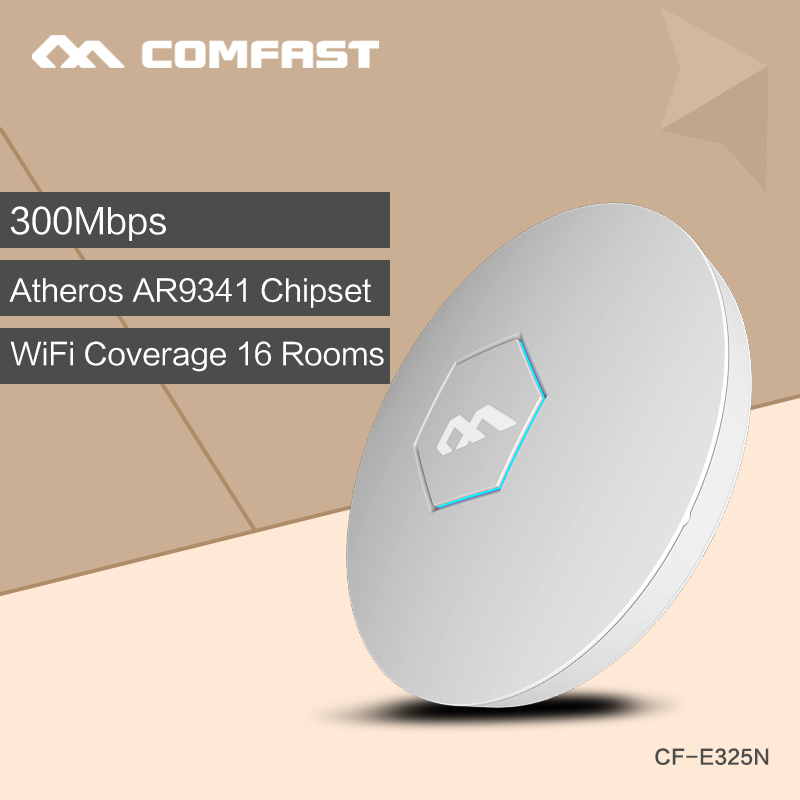 300Mbps Ceiling AP, wireless AP ATHEROS AR9341 Chipset with 48V POE power adapter comfast wifi router wi-fi coverage larger area