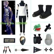Naruto White sleeveless Anbu Halloween Cosplay costume Kakashi cosplay Accessories set