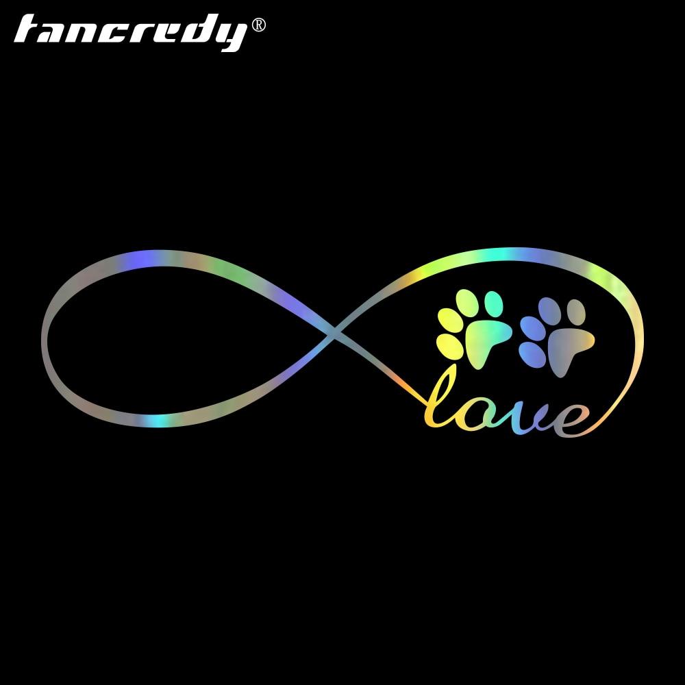 Tancredy Animal Dog Cat footprints footmark Car Bumper Stickers and Decals Car Styling Decoration Door Body Window Vinyl Sticker