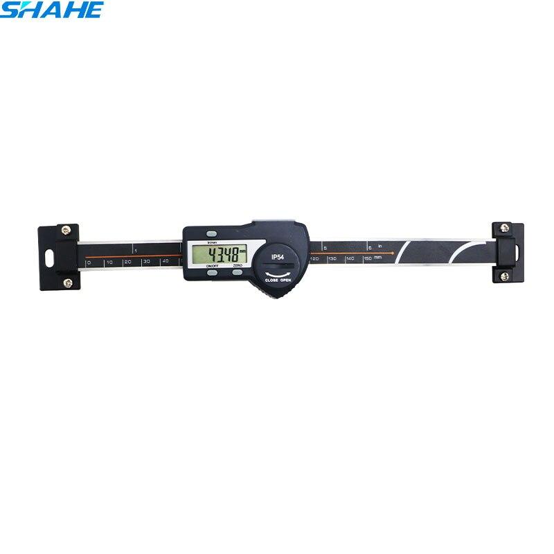 0-150mm חדש גבוהה דיוק שחור אופקי סולם סוג הדיגיטלי Caliper רמת נירוסטה אופקי caliper