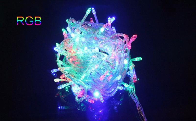 10 м 100led строка свет рождества/свадьба/партии украшения огни освещения ac220-240В водонепроницаемый