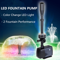 LED Fountain Pump 40W 2000L/H Fish Pond Aquarium Submersible Garden Decoration Water Pump With Led Color Changing
